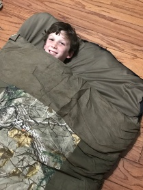 $25 sleeping bag from Bargain Hunt